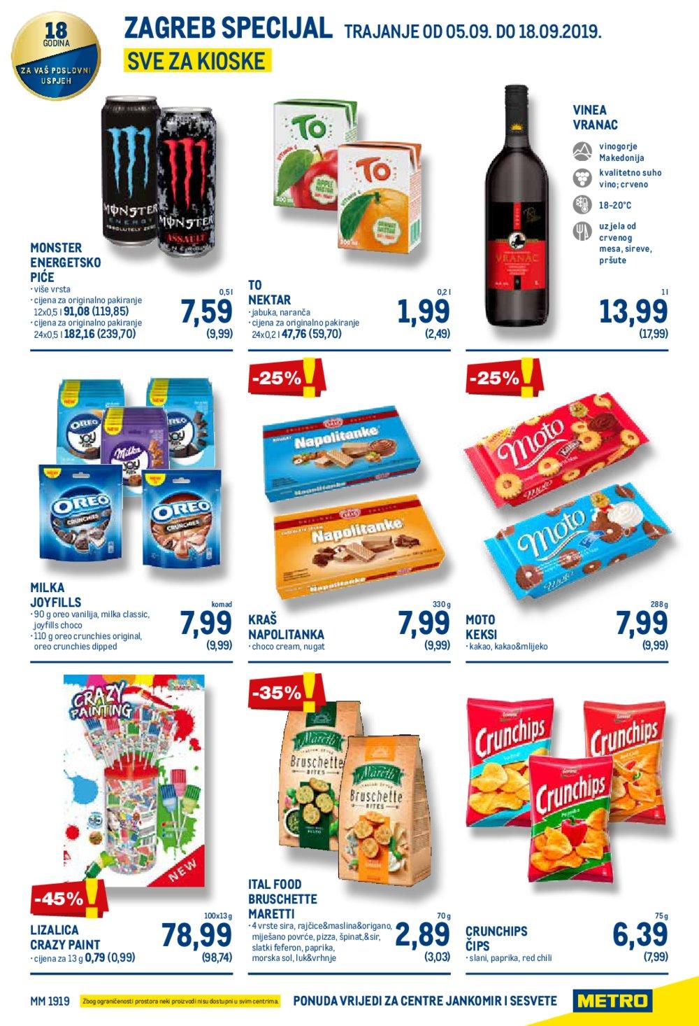 Metro katalog Posebna ponuda prehrane Jankomir, Sesvete 05.09.-18.09.2019.