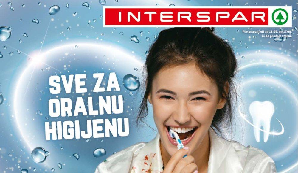 Interspar katalog Sve za oralnu higijenu 11.09.-17.09.2019.