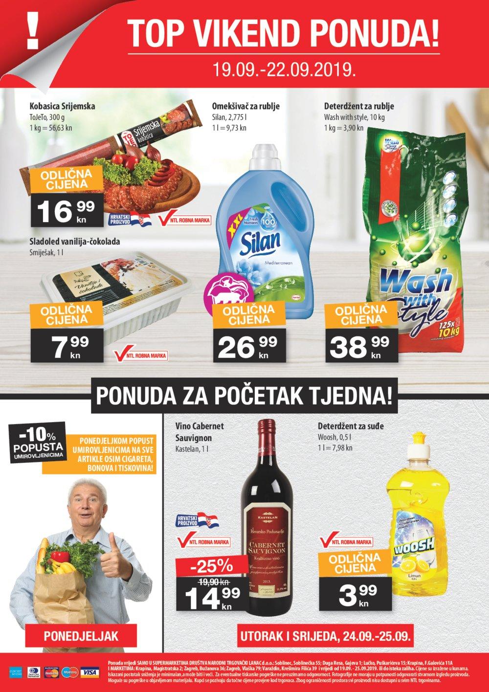 NTL katalog akcija 19.09.-25.09.2019. Soblinec, Duga Resa, lučko, Krapina F.Galovića, Krapina magistarska, Zagreb Bužanova, Zagreb Vlaška, Varaždin