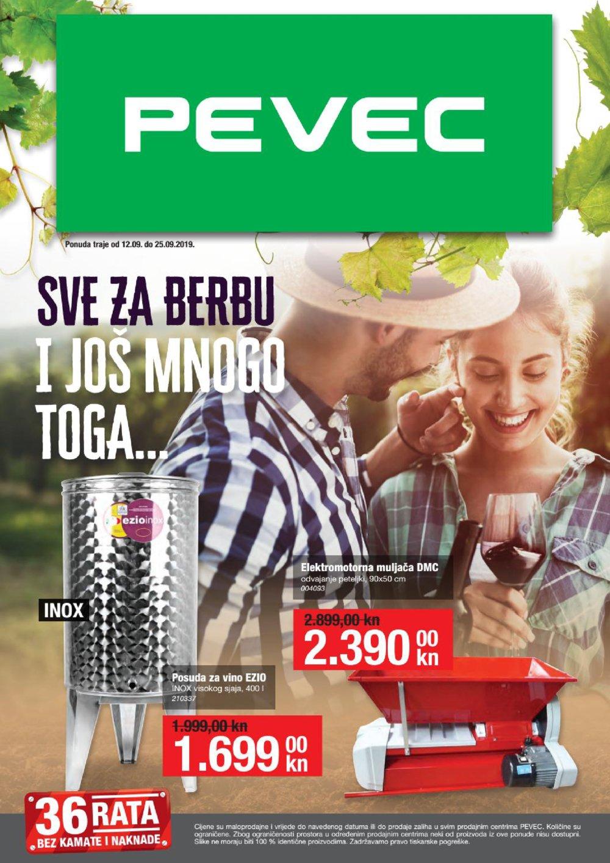 Pevec katalog Sve za berbu 12.09.-25.09.2019.