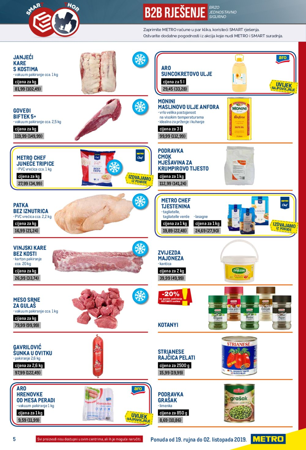 Metro katalog Ponuda za ugostitelje 19.09.-02.10.2019.