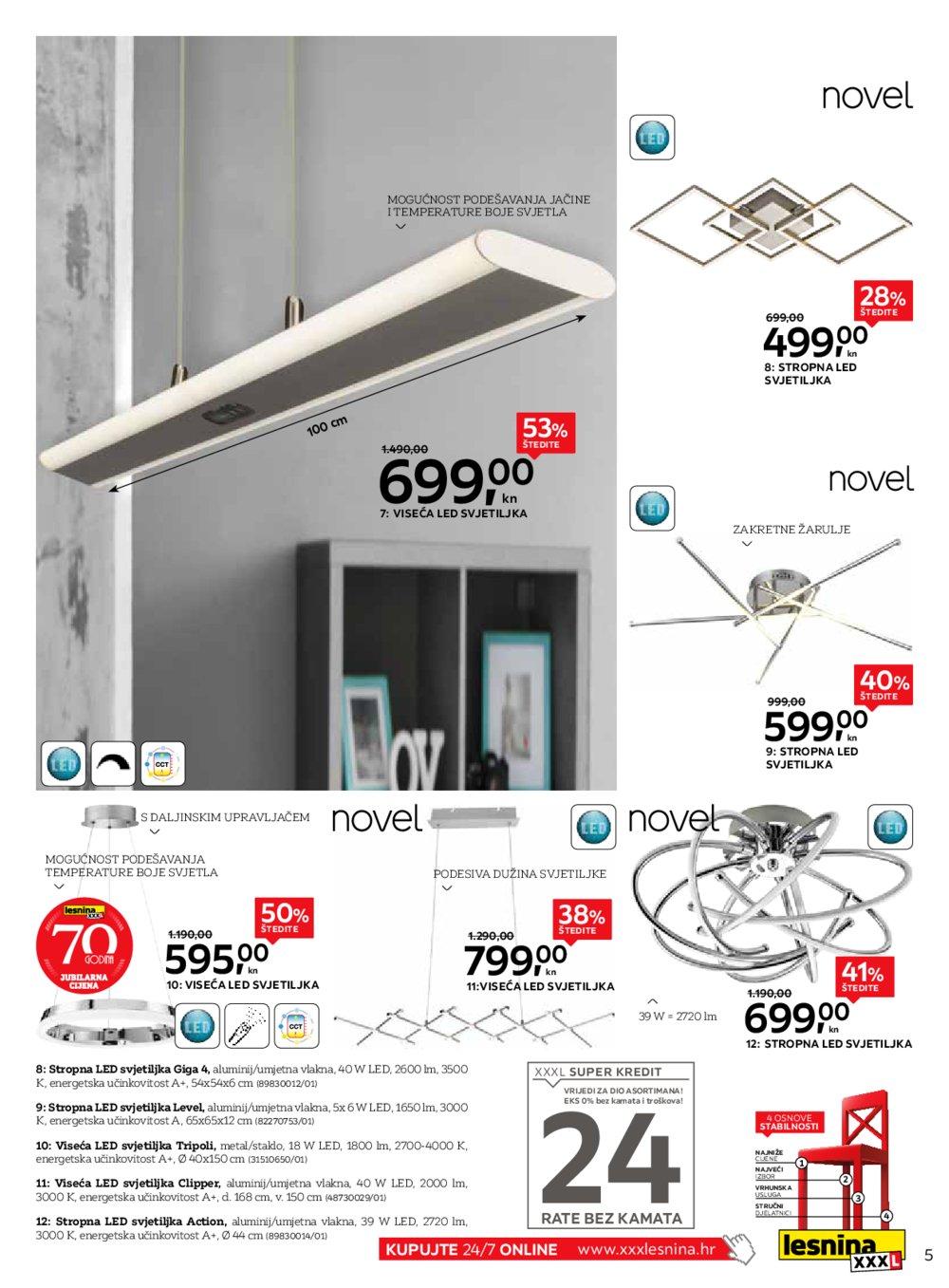 Lesnina katalog Novo svjetlo za moj dom 17.09.2019.-30.09.2019.