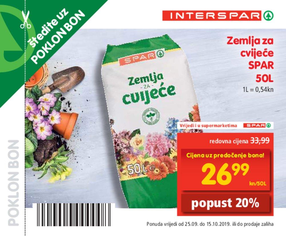 Interspar katalog Bonovi 25.09.-15.10.2019.