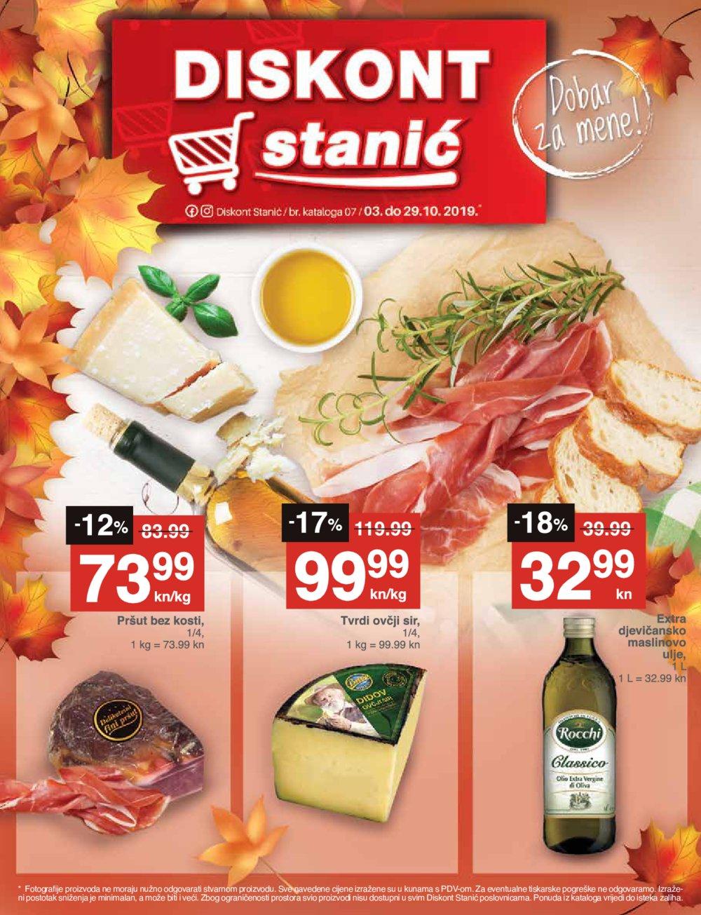 Diskont Stanić katalog Akcija 03.10.-29.10.2019.