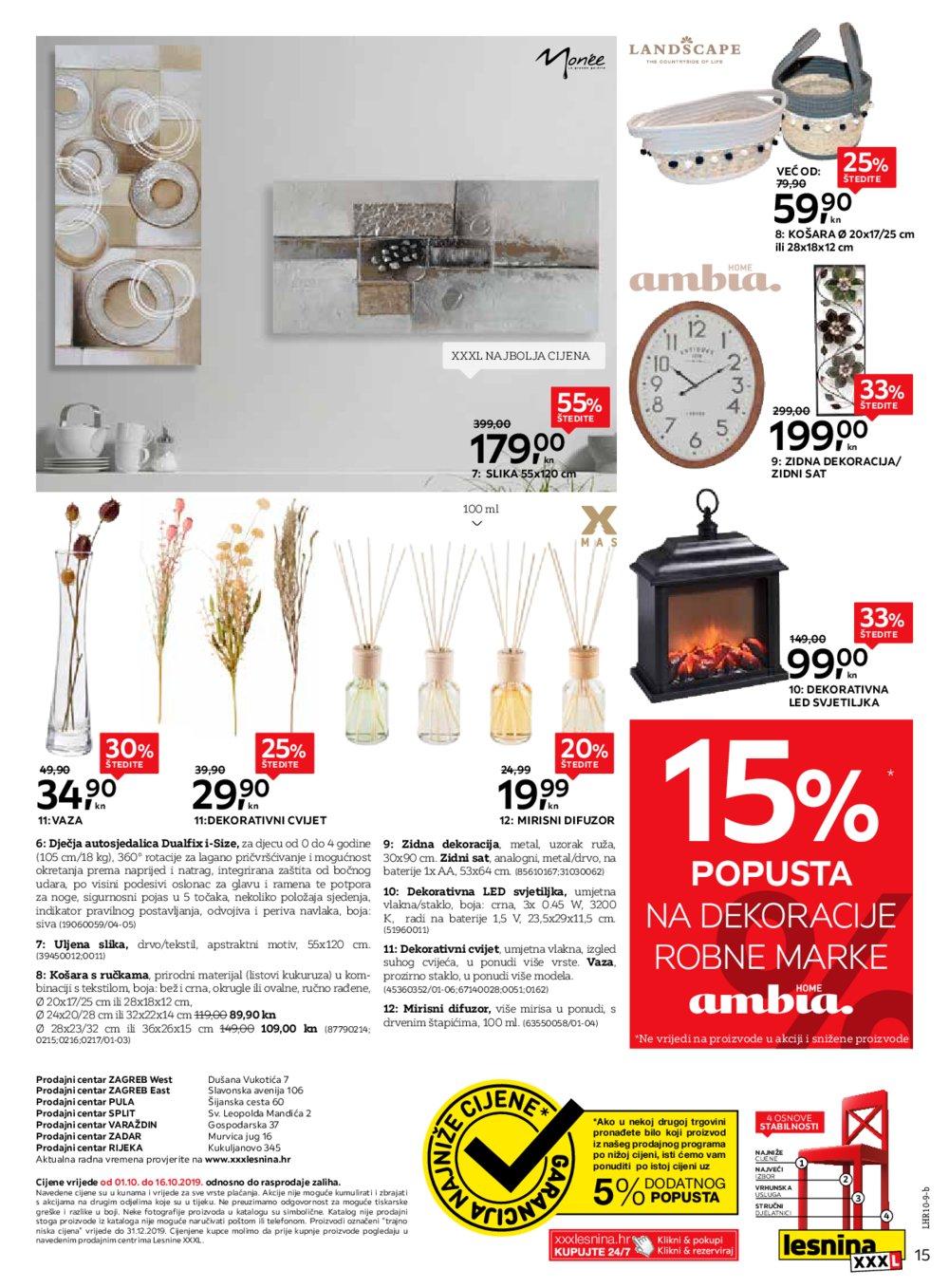 Lesnina katalog Za Vaše delicije Zg Pu St Vž Zd Ri 01.10.-16.10.2019.