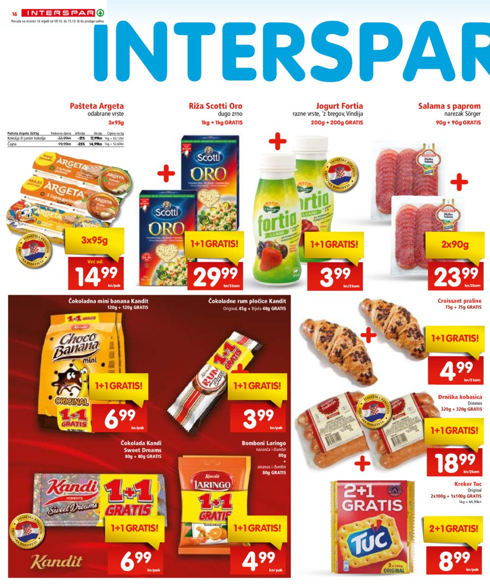 Interspar katalog Akcija 09.10.-22.10.2019.