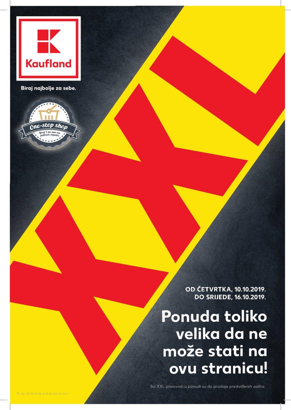 Kaufland katalog XXL Akcija 10.10.-16.10.2019.