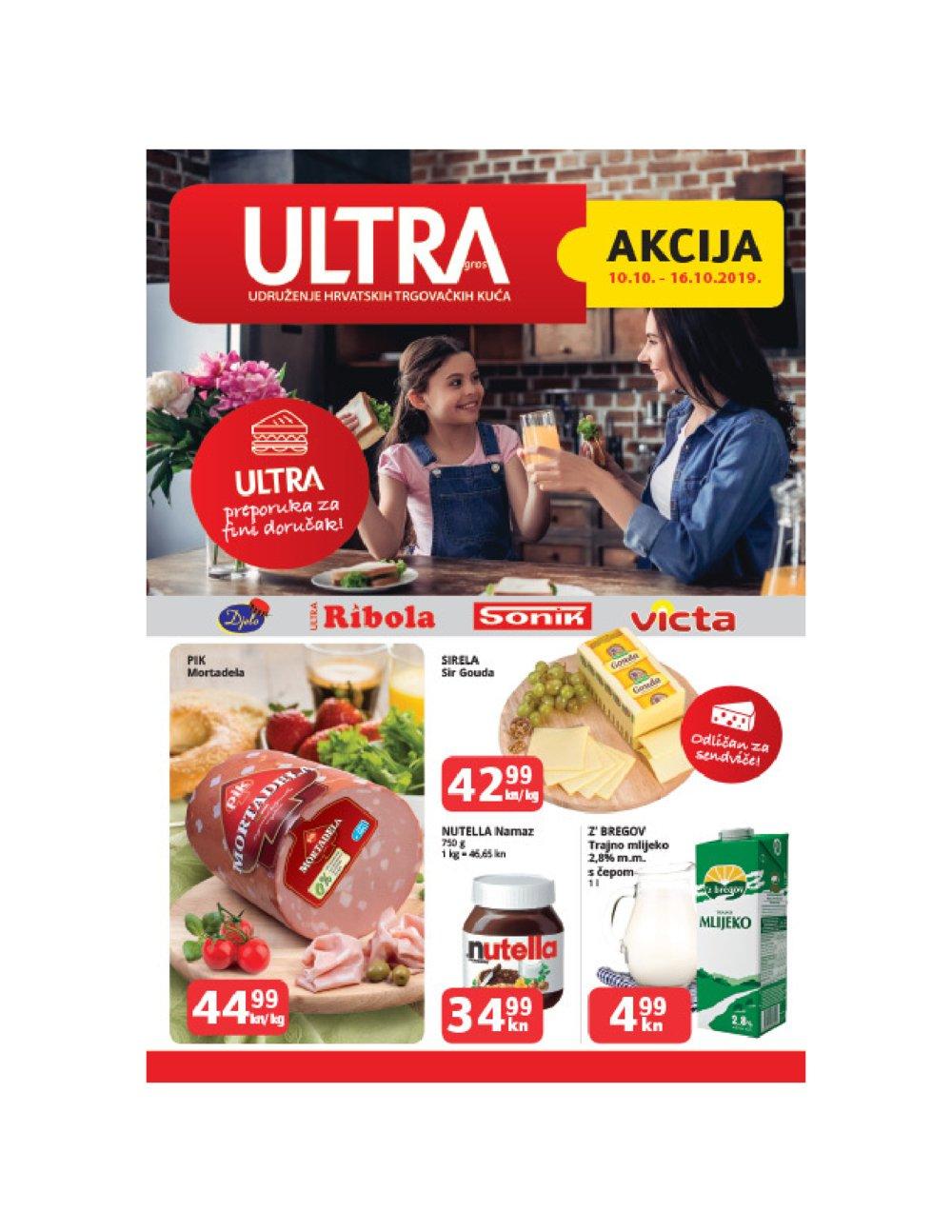 Ultra Gros katalog Akcija 10.10.-16.10.2019