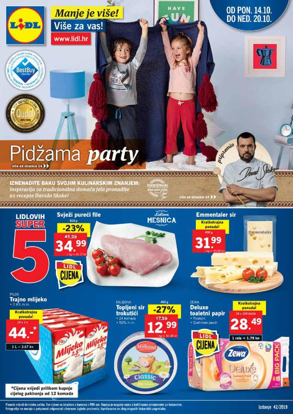 Lidl katalog Akcija Pidžama party 14.10.-20.10.2019.