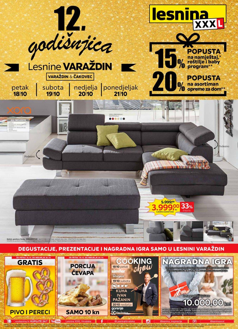 Lesnina katalog Godišnjica Varaždina 18.10. - 21.10.2019.