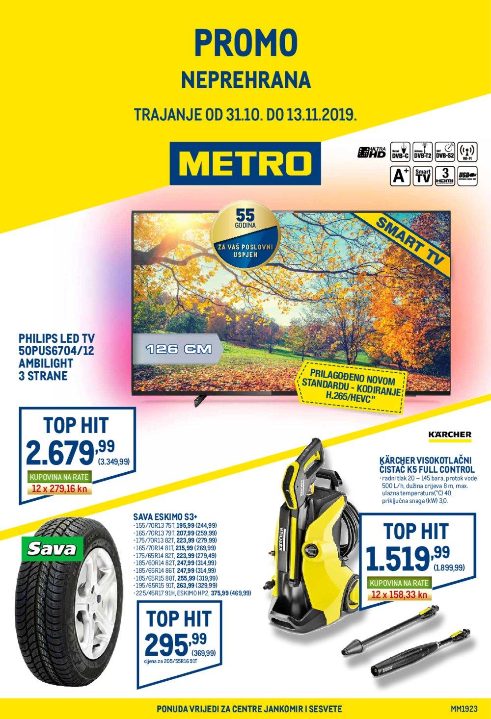 Metro katalog Akcija Neprehrana 31.10.-13.11.2019.