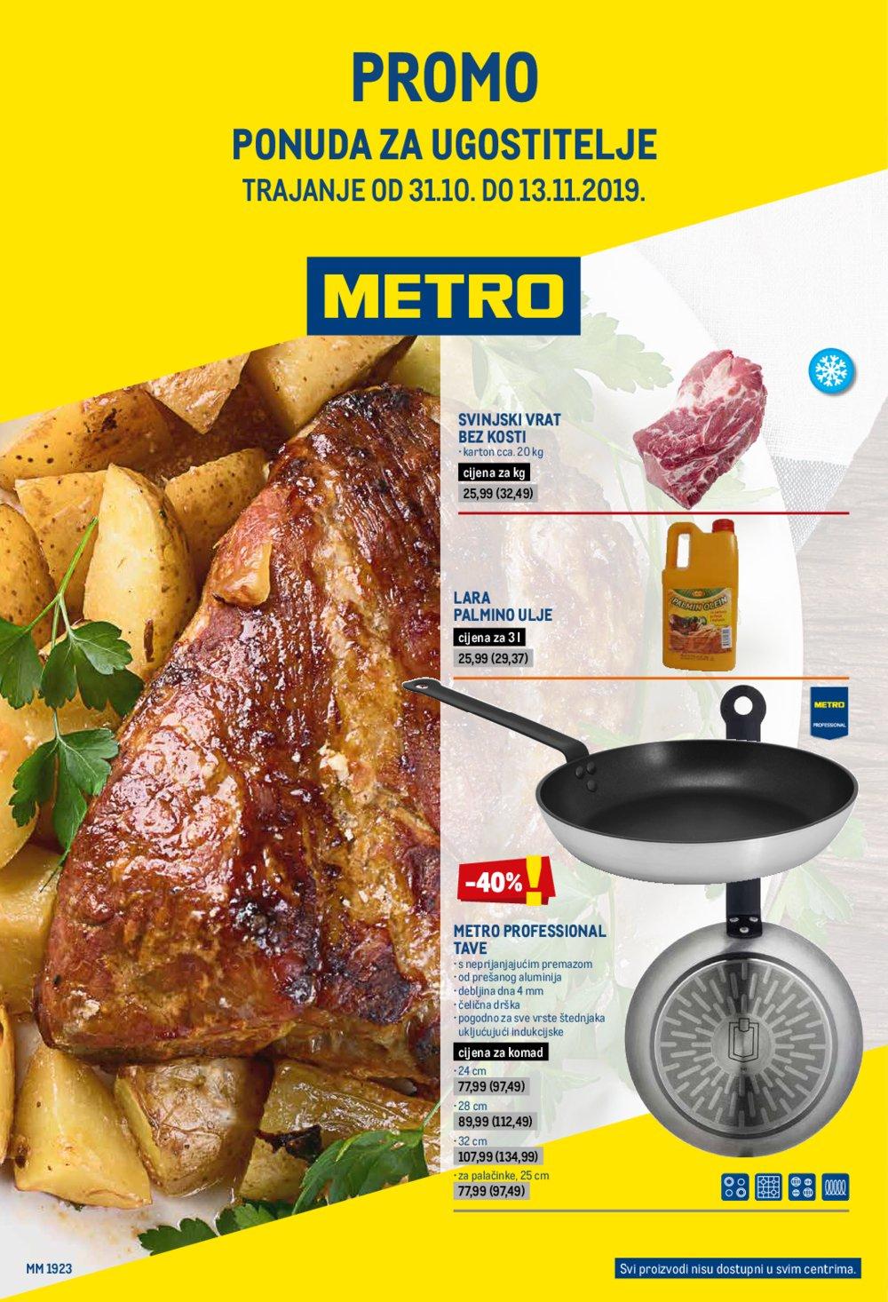 Metro katalog Akcija Ponuda za ugostitelje 31.10.-13.11.2019.