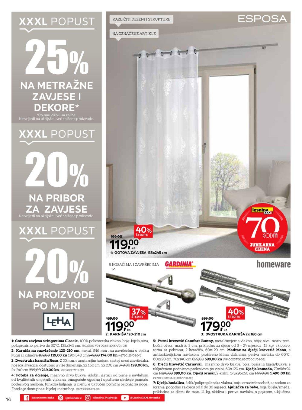 Lesnina katalog Čarolija Božića Akcija 5.11.-14.11. 2019. RI