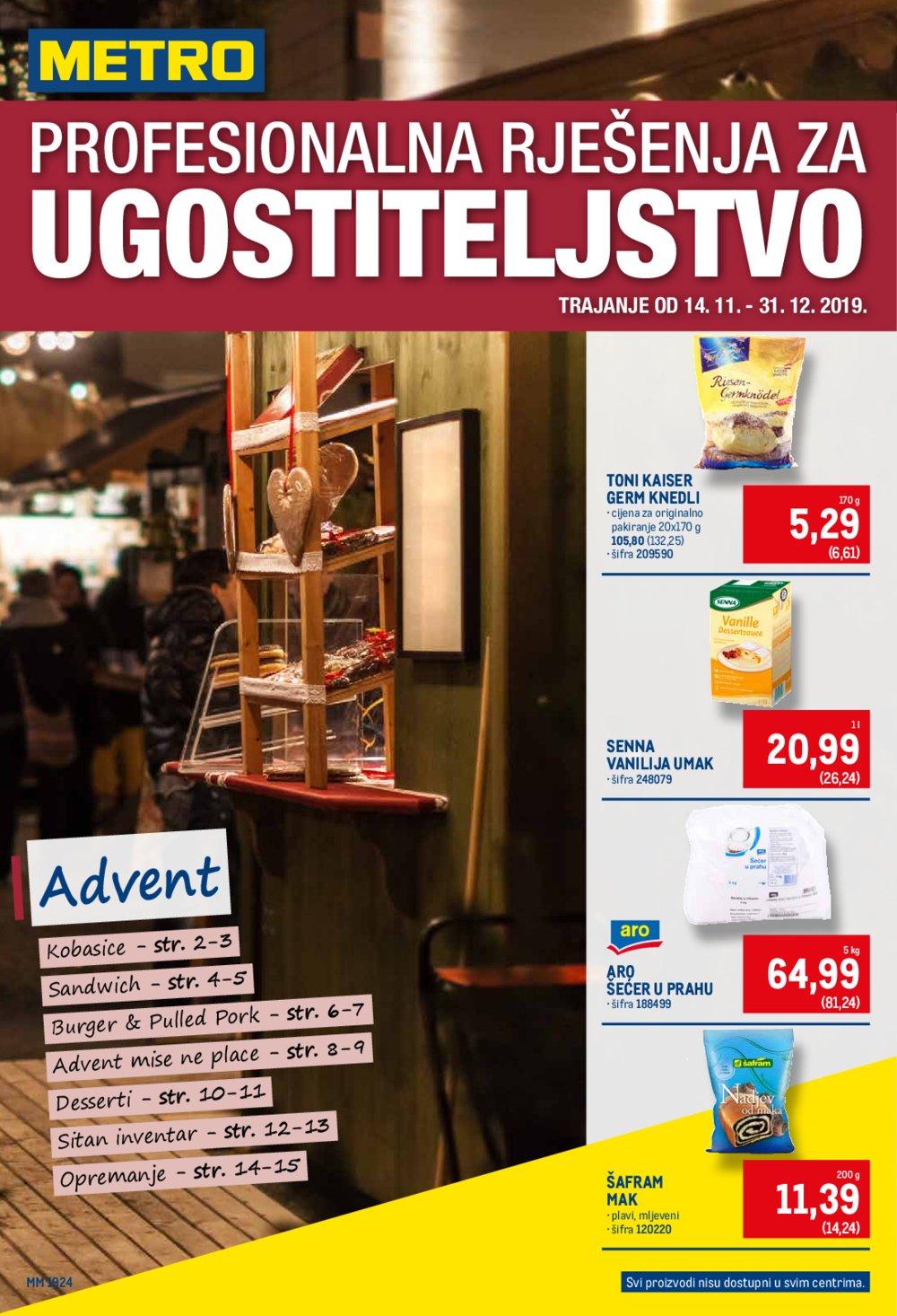 Metro katalog Profesionalna ponuda za ugositetelje 14.11-31.12.2019.
