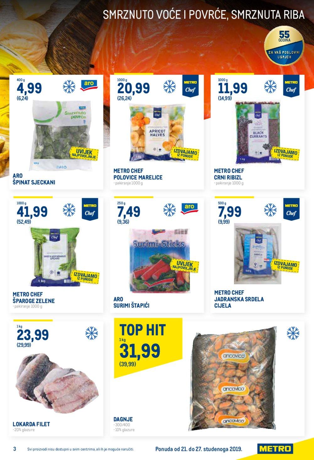 Metro katalog Prehrana, kozmetika, deterdženti... 21.11.-27.11.2019