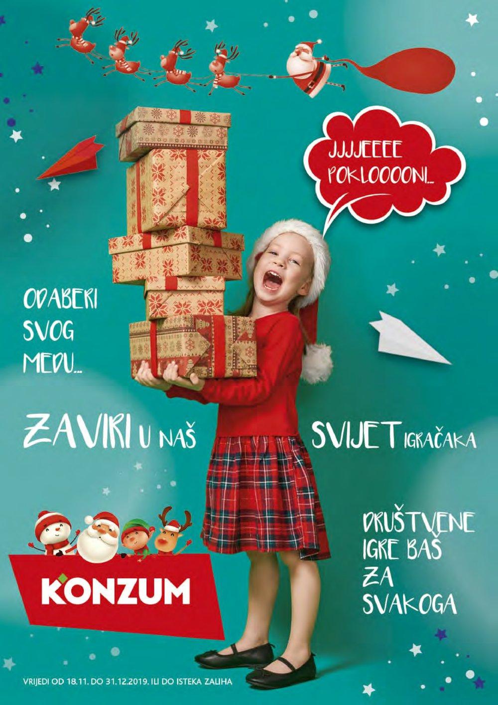 Konzum katalog Igračke 18.11.-31.12.2019.