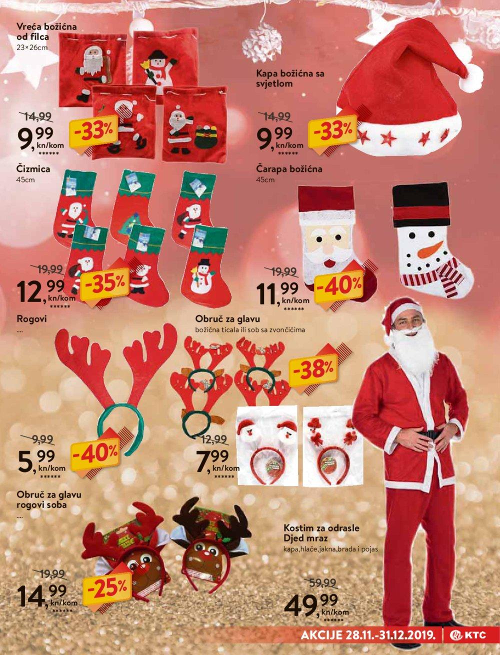 KTC katalog Božićne dekoracije i tekstil 28.11.-31.12.2019.