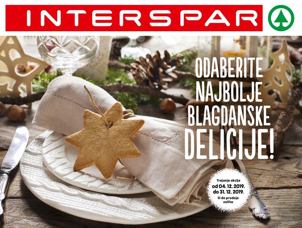 Interspar Katalog Delicije Božić 04.12.-31.12.2019.