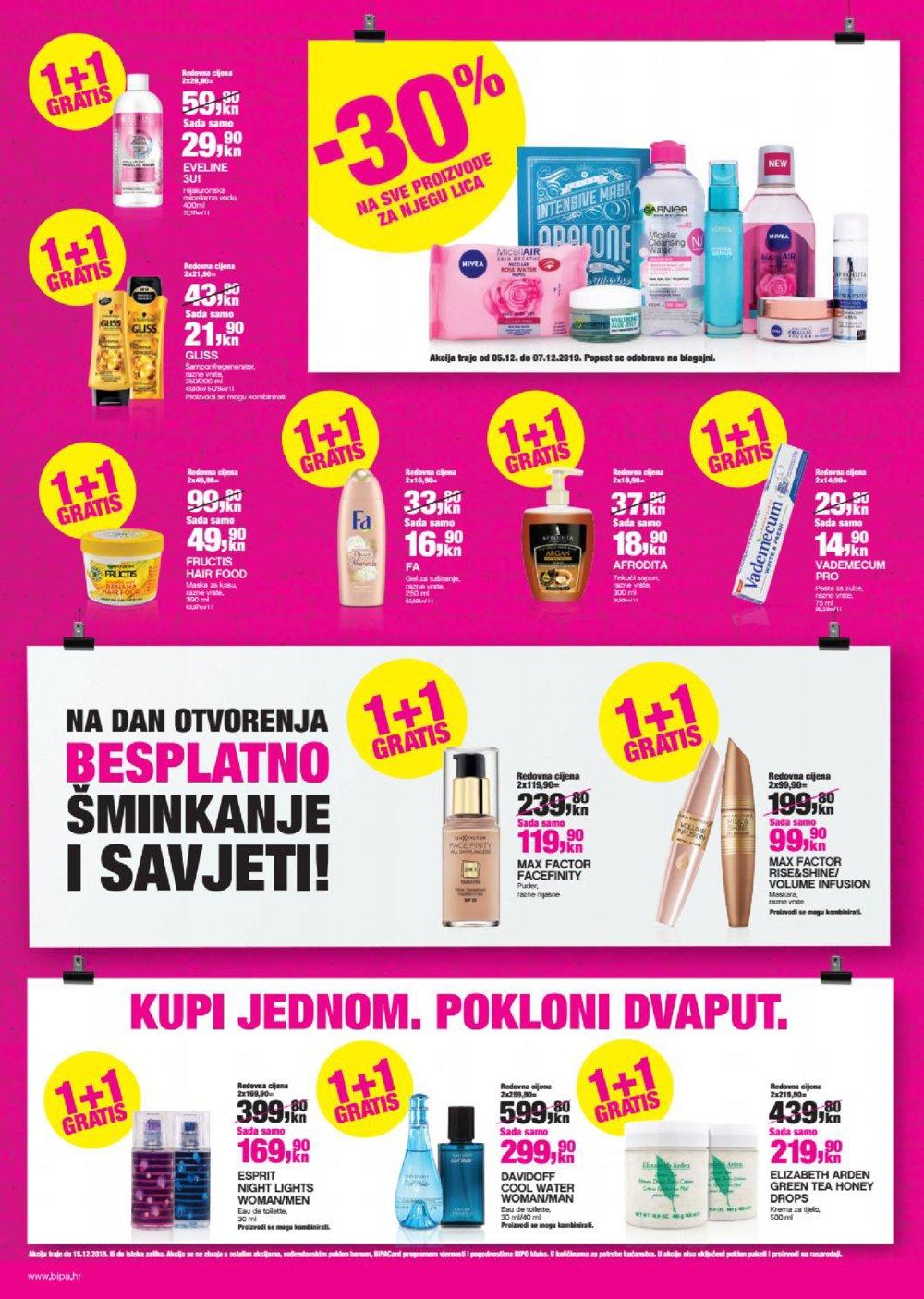 Bipa katalog Otvorenje Vrbovec 05.12.-15.12.2019.