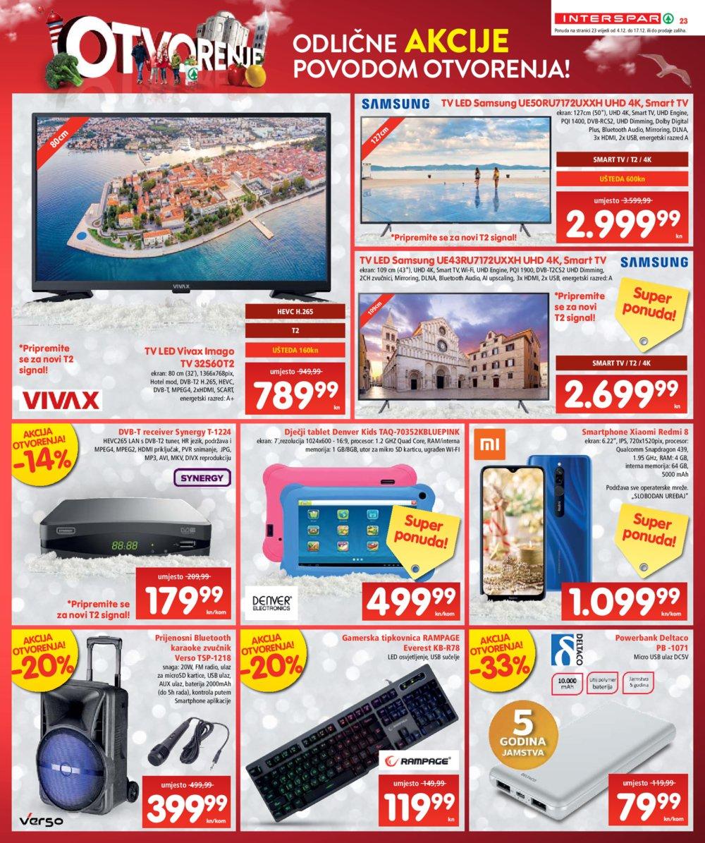 Spar katalog Otvorenje Interspara Zadar 04.12.-17.12.2019.
