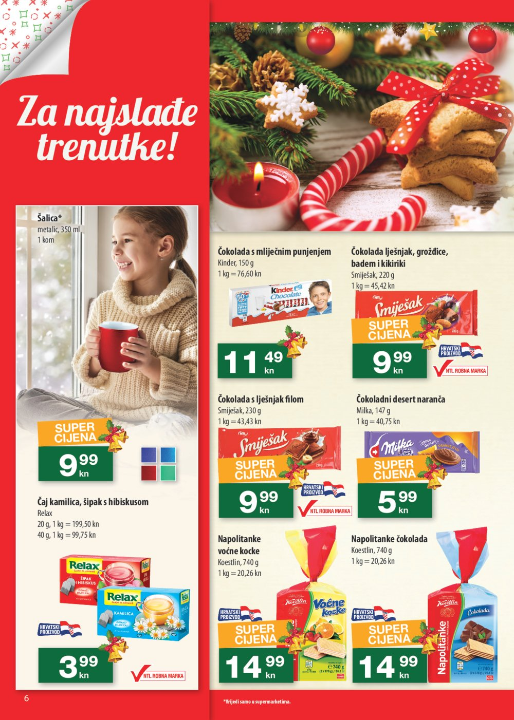NTL Veselimo se Božiću 12.12.-18.12.2019. odabrane poslovnice