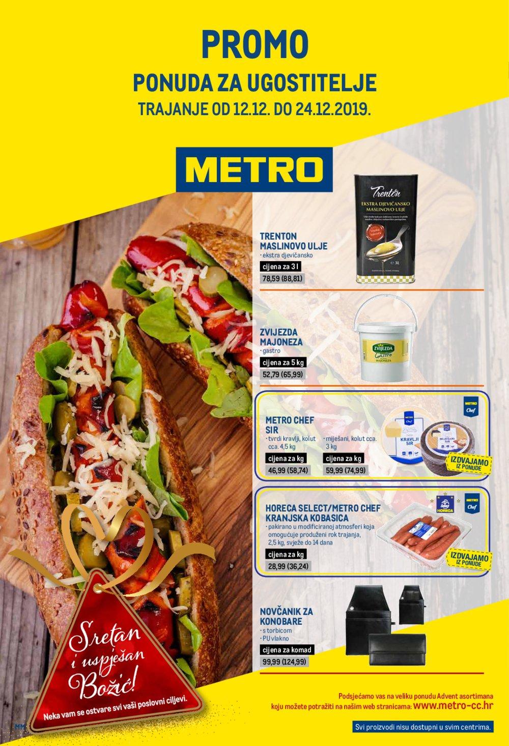 Metro katalog Posebna ponuda za ugostitelje 12.12.-24.12.2019.