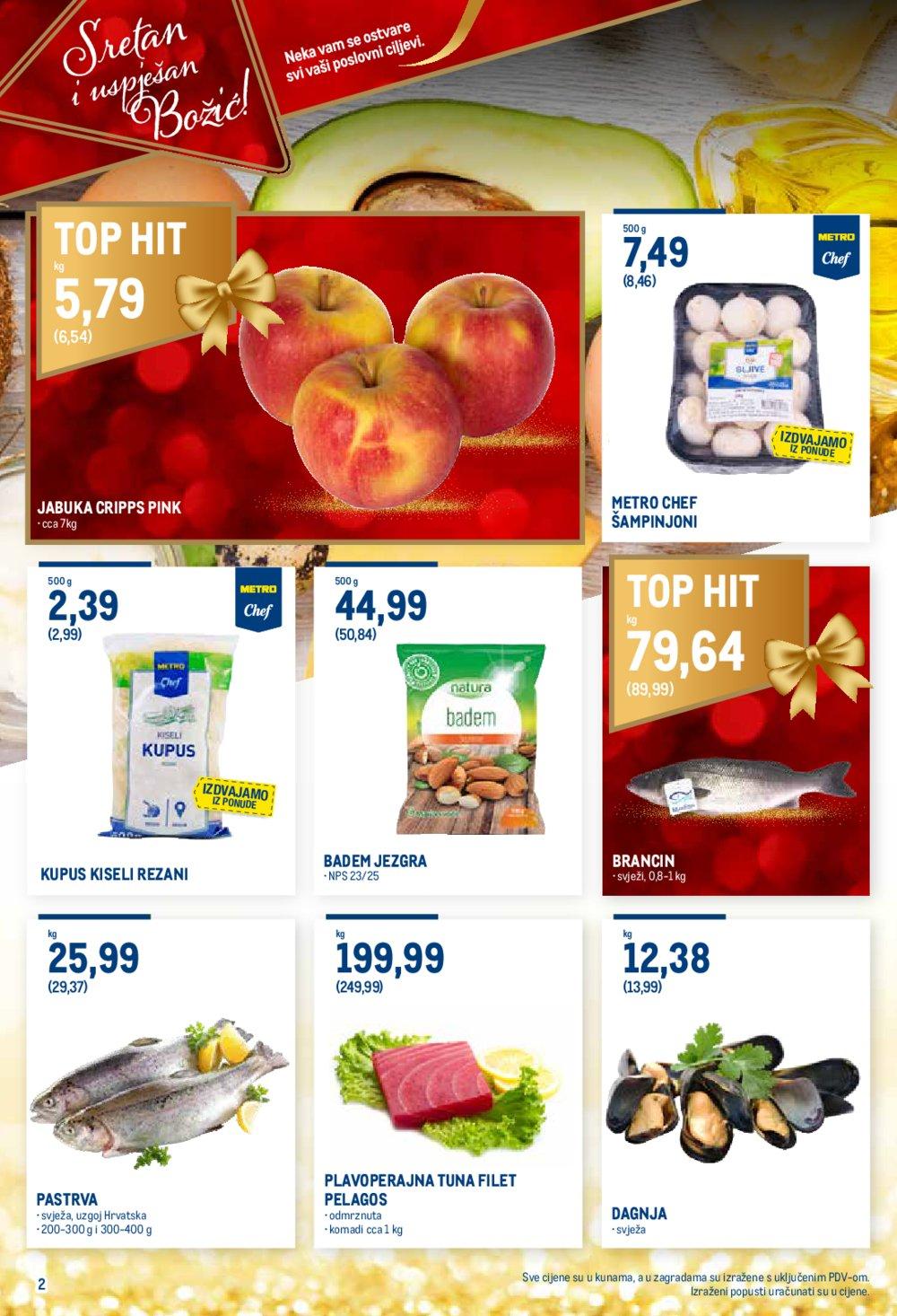 Metro katalog Prehrana 12.12.-24.12.2019.