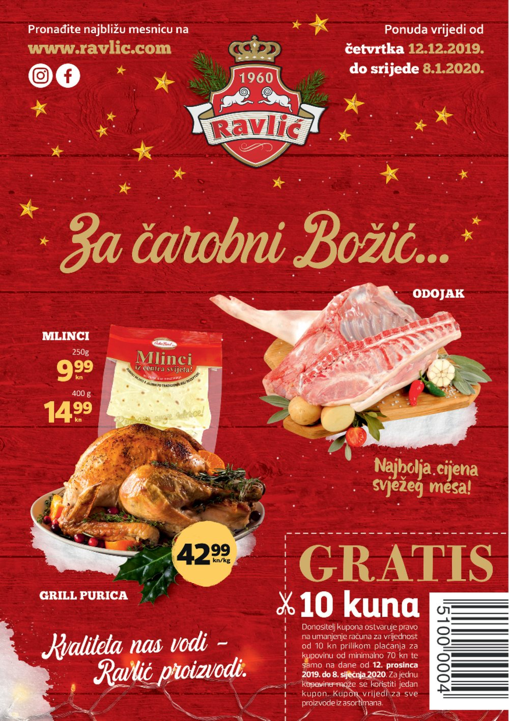 Mesnice Ravlić katalog Akcija 12.12.-08.01.2020.