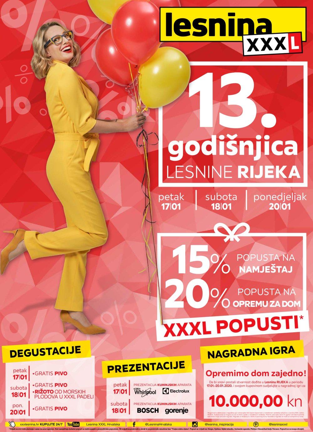 Lesnina katalog 13.godišnjica Rijeka 17.01.-20.01.2020.