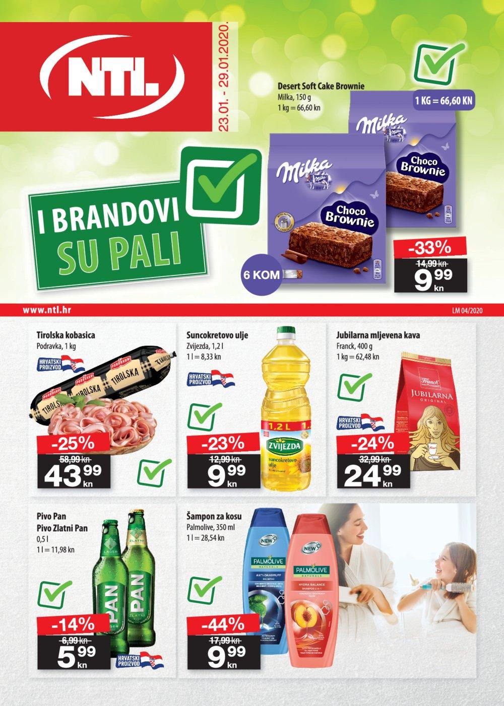 NTL katalog Akcija 23.01.-29.01.2020. Soblinec, Duga Resa, Lučko, Krapina, Zagreb Bužanova, Vlaška, Varaždin