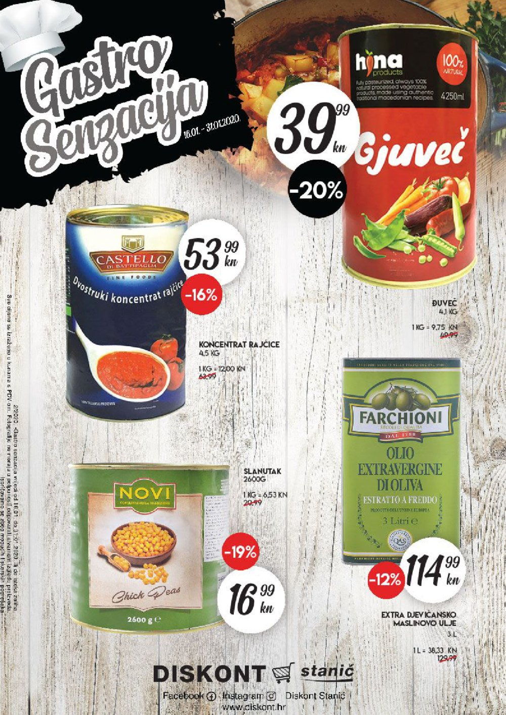 Diskont Stanić katalog Gastro Senzacija 16.01.-31.01.2020.