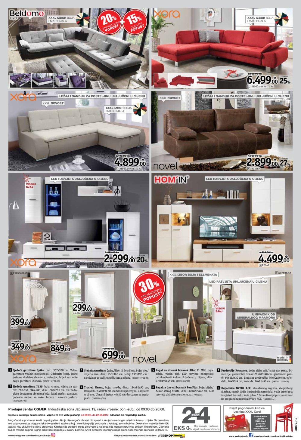 Lesnina katalog XXXL kvaliteta stanovanja do 22.05.