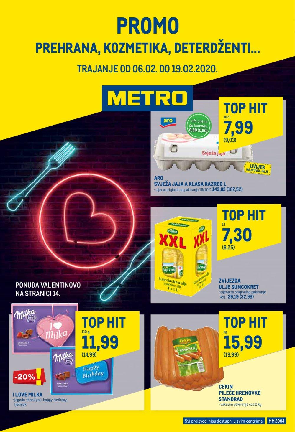 Metro katalog Akcija Posebna ponuda prehrane 06.02.-19.02.2020.