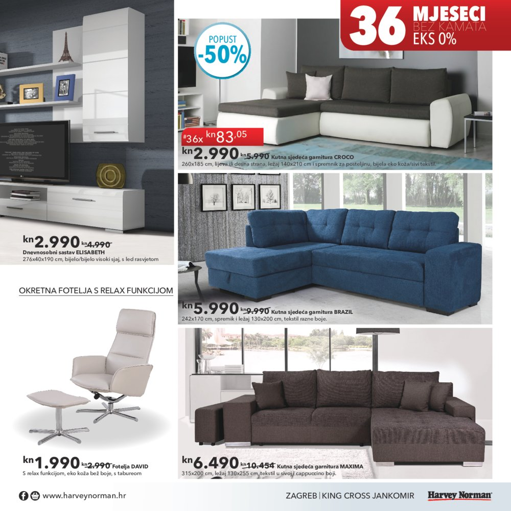 Harvey Norman katalog Udobnost na dohvat ruke do 31.5.2017.