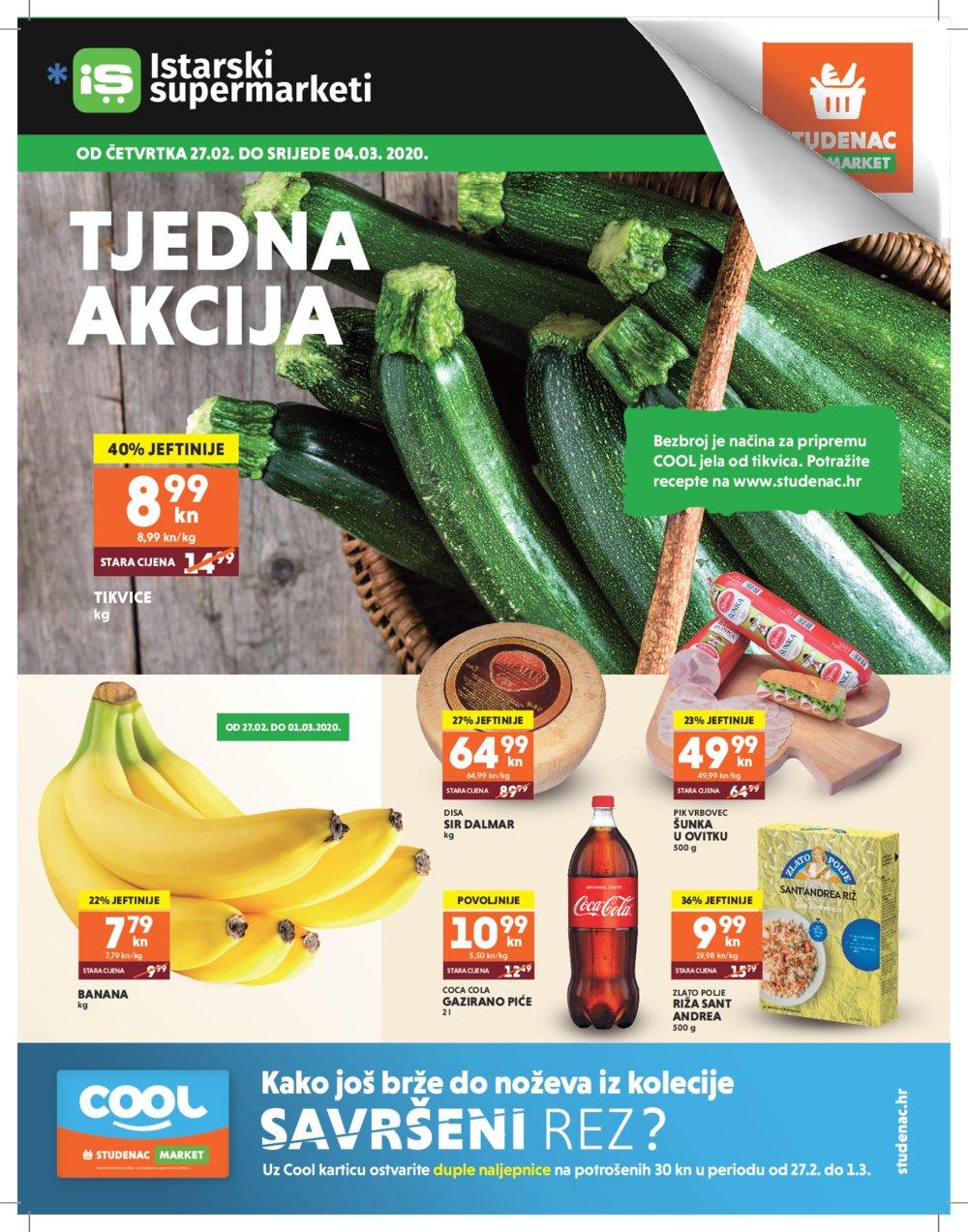 Istarski supermarketi-Studenac katalog Tjedna akcija 27.02.-04.03.2020.