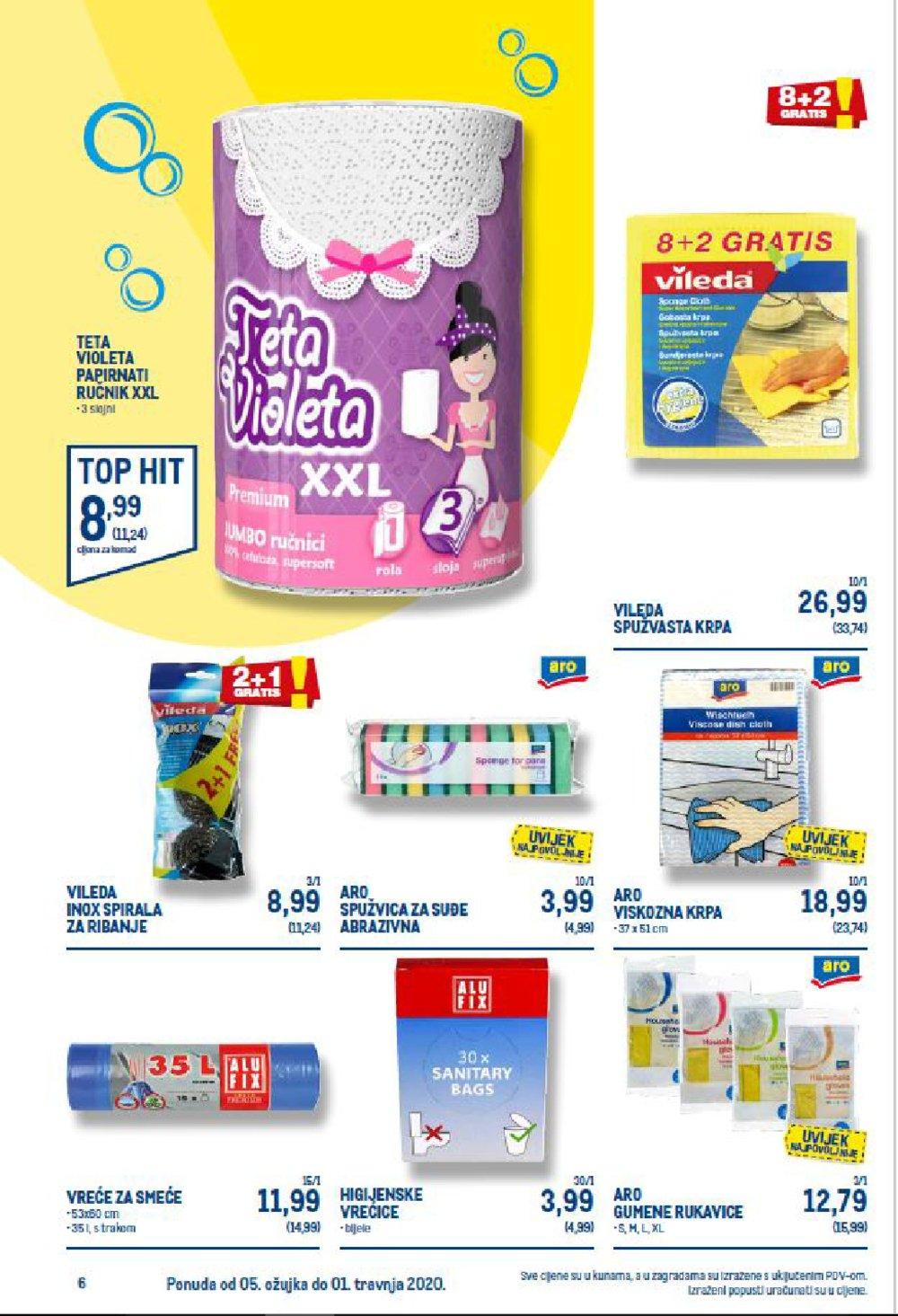 Metro katalog Akcija Sve za čišćenje 05.03.-01.04.2020. - ZG