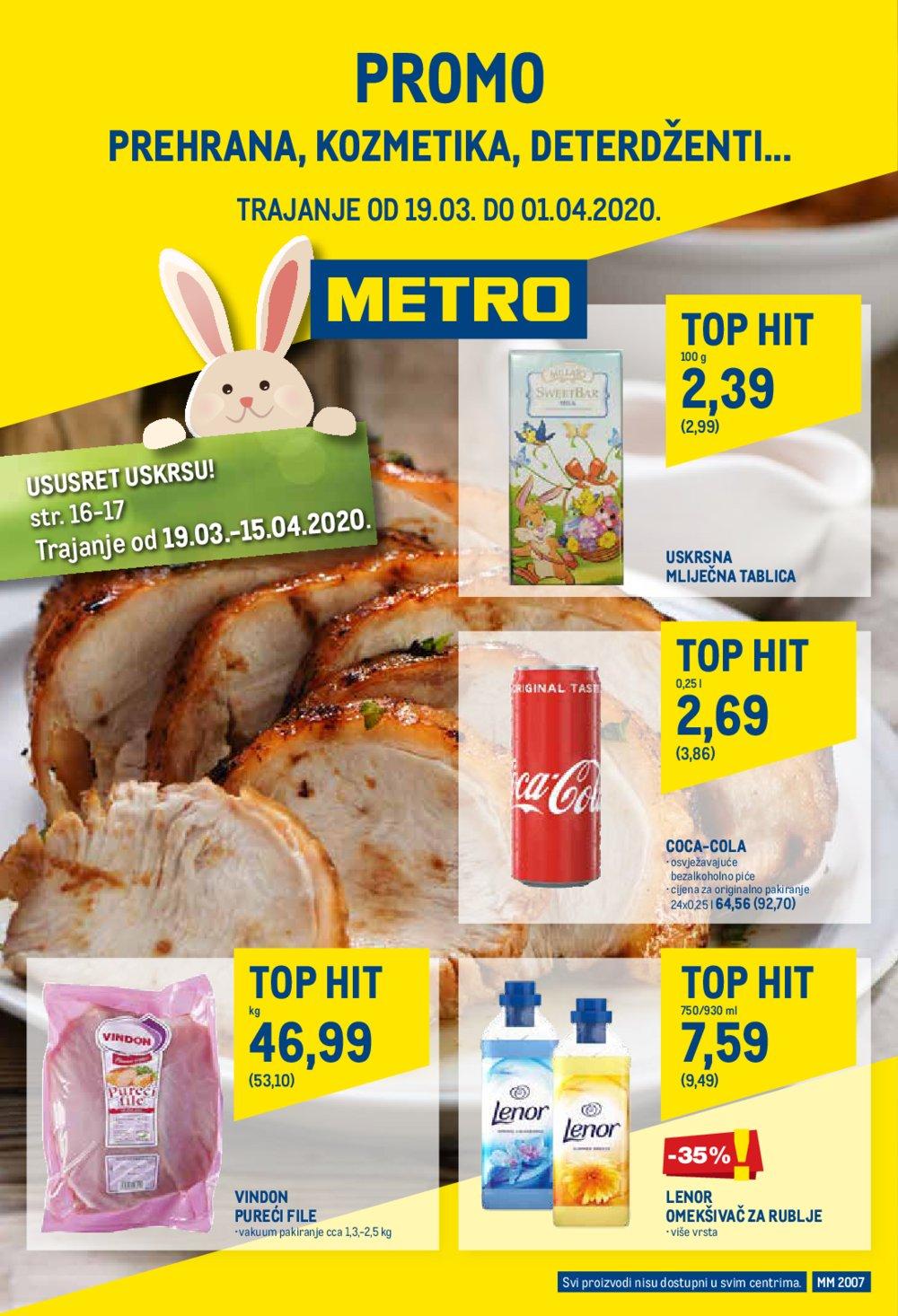 Metro katalog Prehrana 19.03.-01.04.2020.