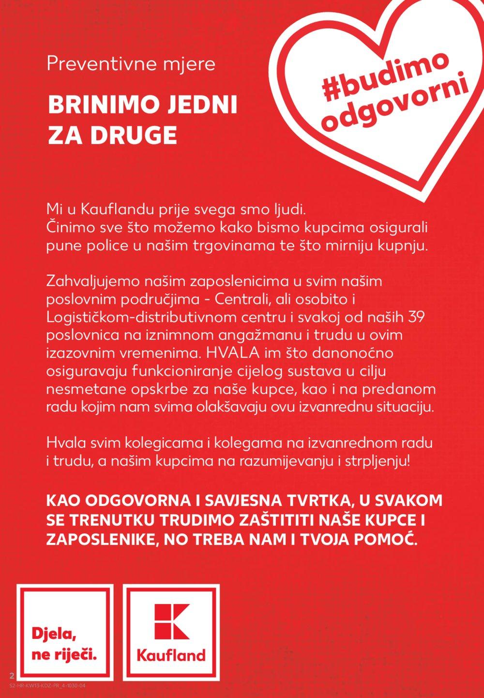 Kaufland katalog Akcija 26.03.-01.04.2020. VG, Ma, Si, DS, Po, Vu