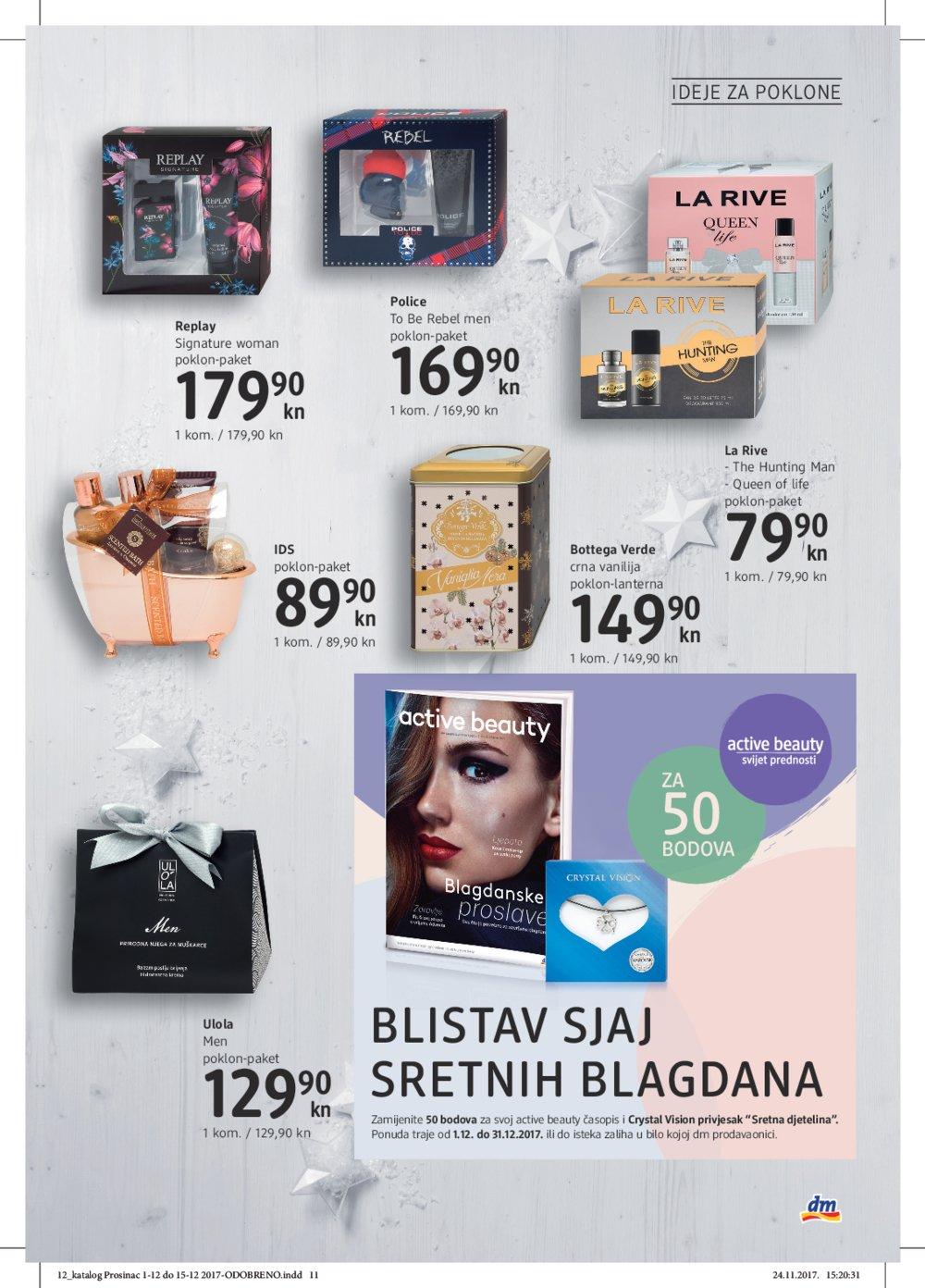 DM katalog Čarolija blagdana od 1.12. do 15.12.2017.