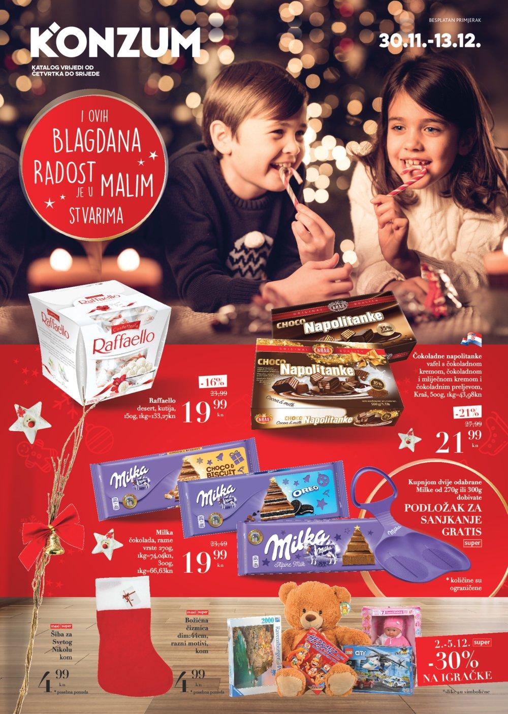 Konzum katalog Slatkiši i igračke od 30.11. do 13.12.2017.