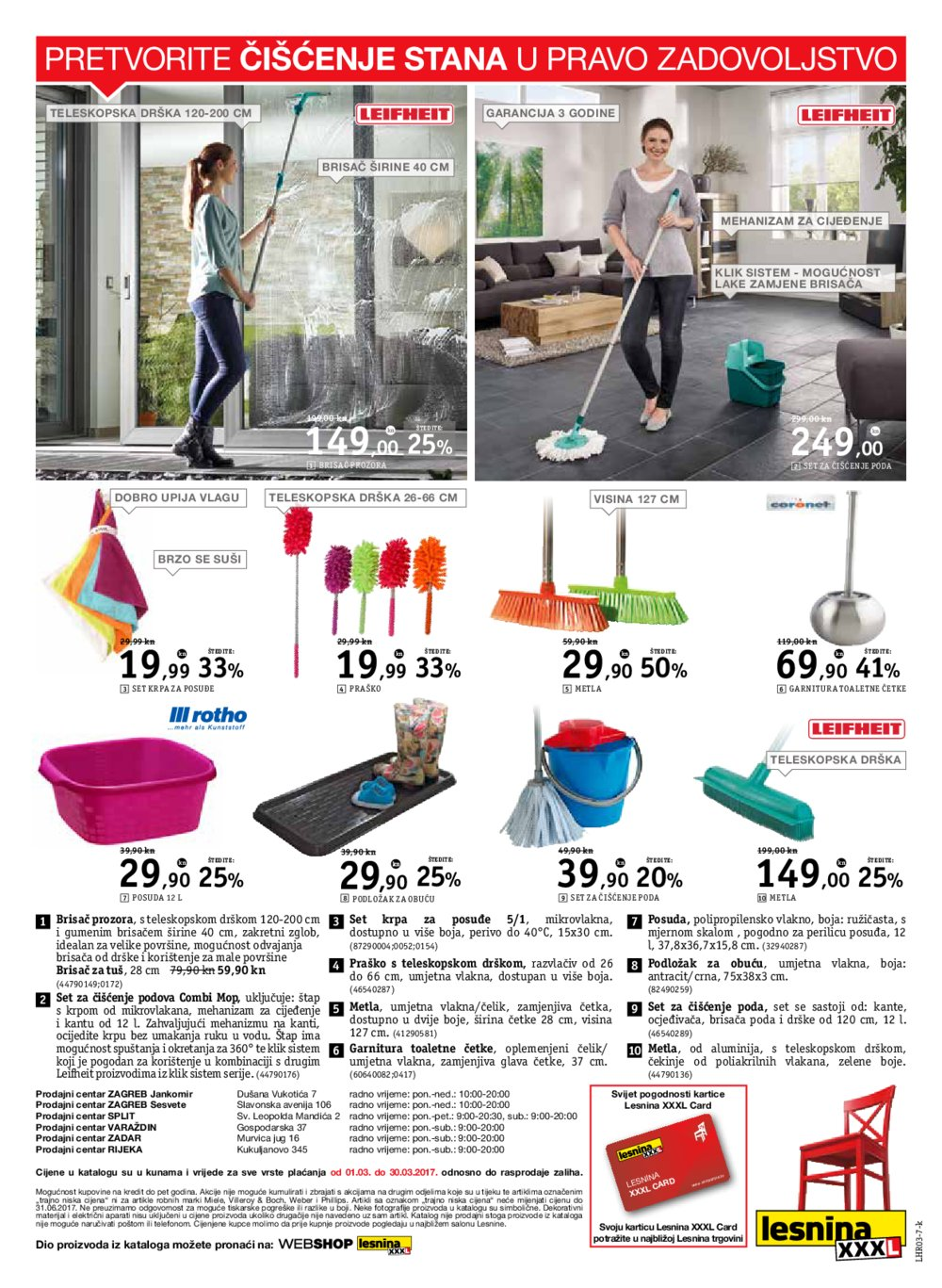 Lesnina katalog Uljepšajmo dom zajedno do 30.03.2017