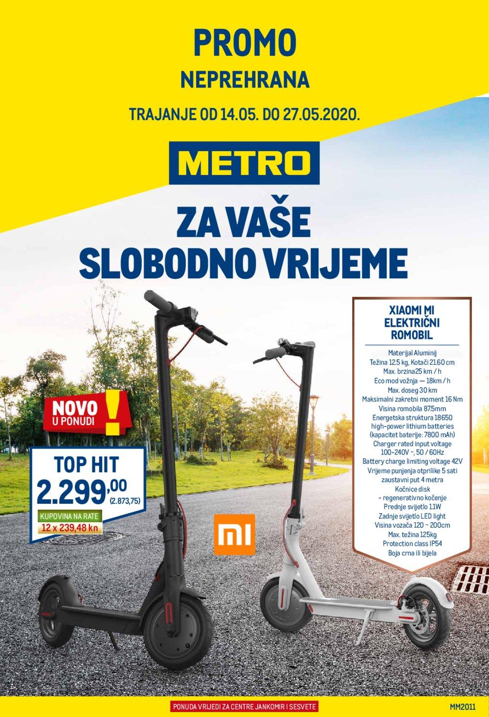 Metro katalog Neprehrana 14.05.-27.05.2020. Zg