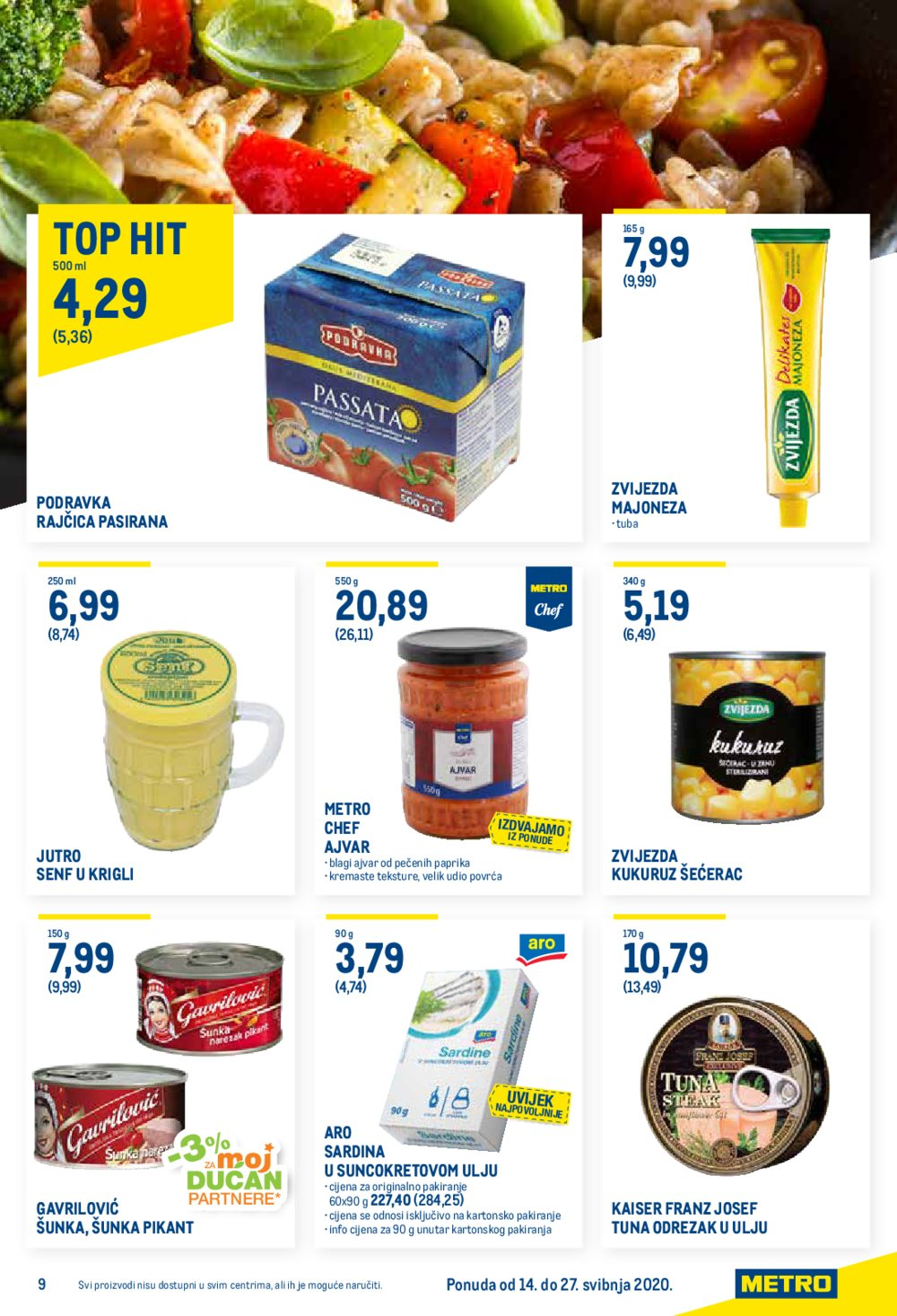 Metro katalog Prehrana 14.05.-27.05.2020.