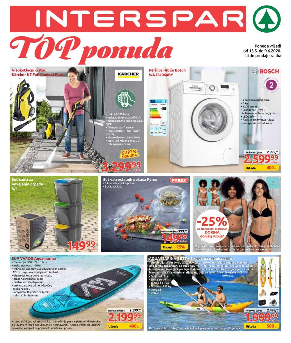 Interspar katalog Top ponuda 13.05.-09.06.2020.