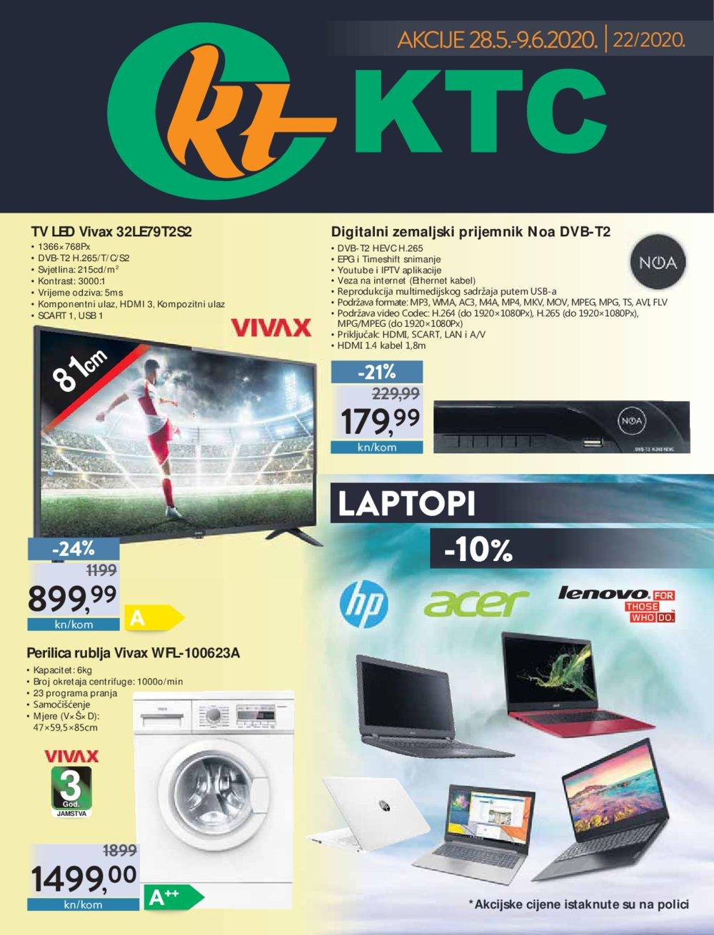 KTC katalog Akcija Tehnika 28.05.-09.06.2020.