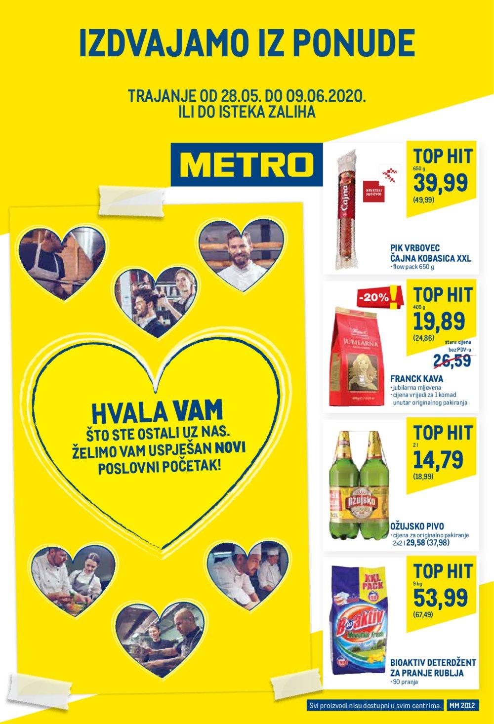 Metro katalog Izdvojeno iz ponude 28.05.-09.06.2020. Jankomir i Sesvete