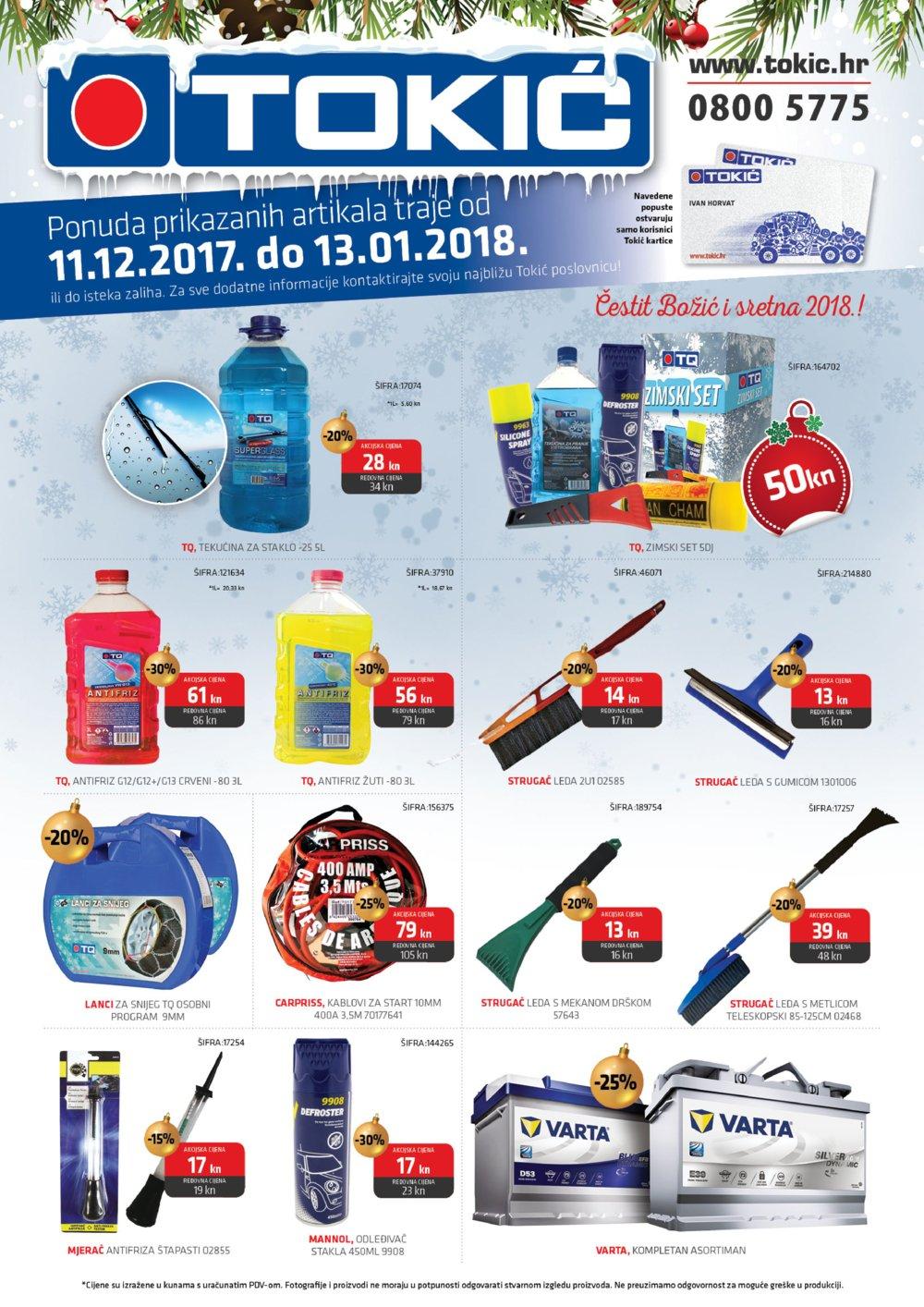 Tokić letak Akcija 11.12.2017.-13.01.2018.