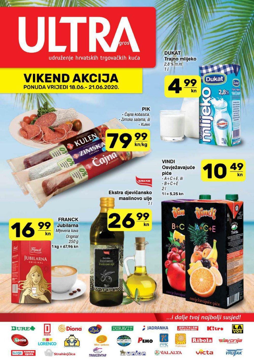 Prehrana katalog Ultra gros Vikend Akcija 18.06.-21.06.2020.