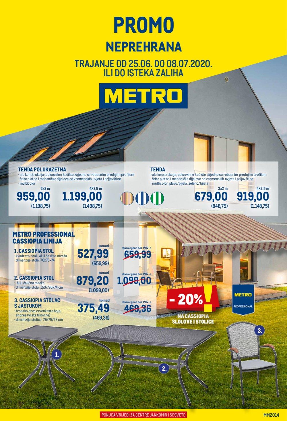 Metro katalog Ponuda neprehrane 25.06.-08.07.2020. Jankomir i Sesvete