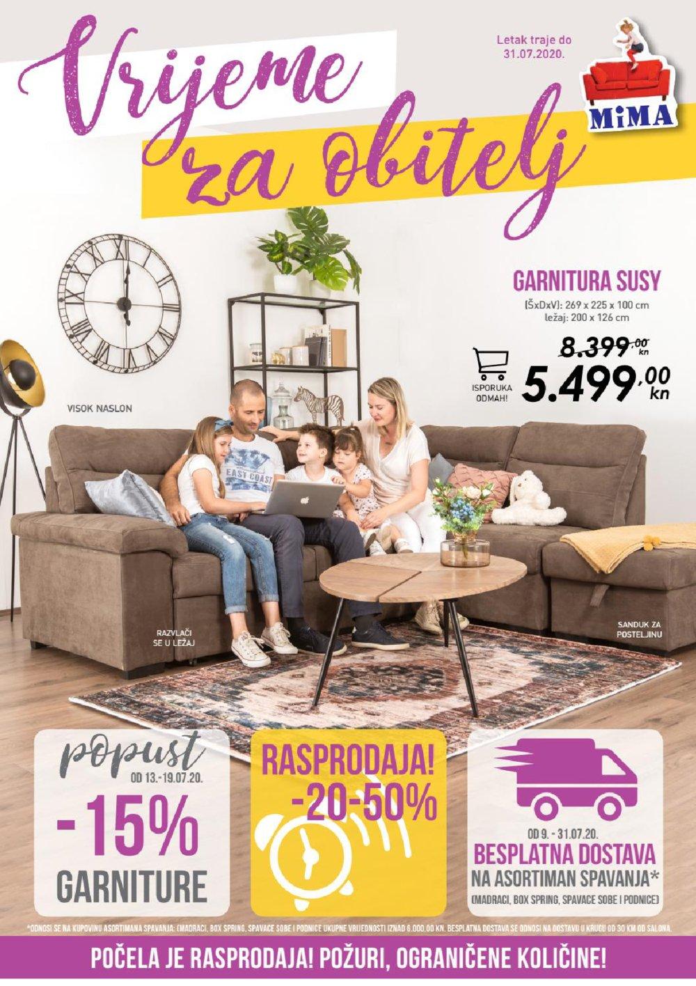 Mima namještaj katalog Vrijeme za obitelj 10.07.-31.07.2020.